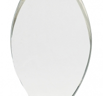 Crystal Oval on Clear Base