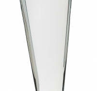 Clear Crystal Golf/Wave on Black Pedestal Base