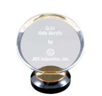 Round Gold Halo Award